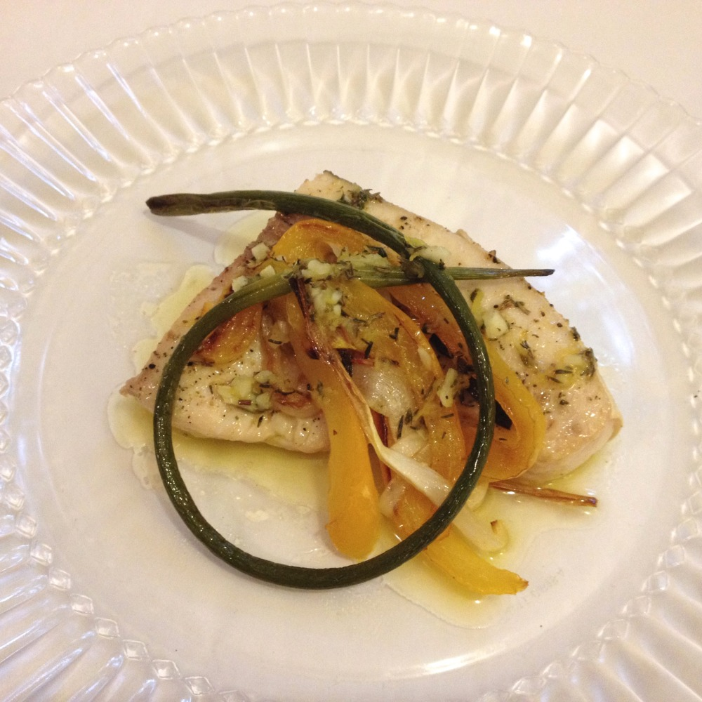 Lemon Pepper Pan-Roasted Swordfish