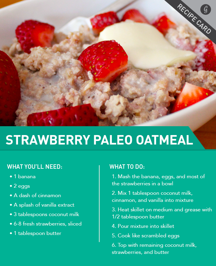 Strawberries and Cream Paleo Oatmeal
