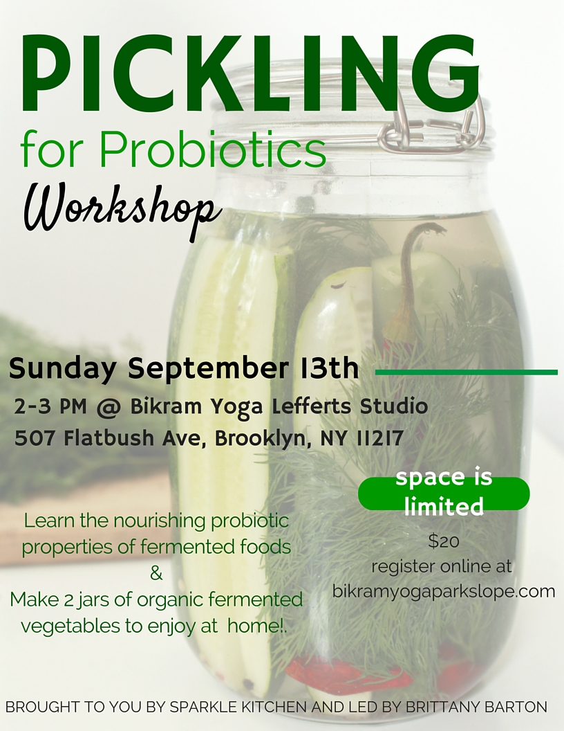 Pickling for Probiotics