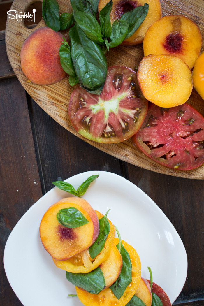 Fresh Peach & Heirloom Tomato Salad