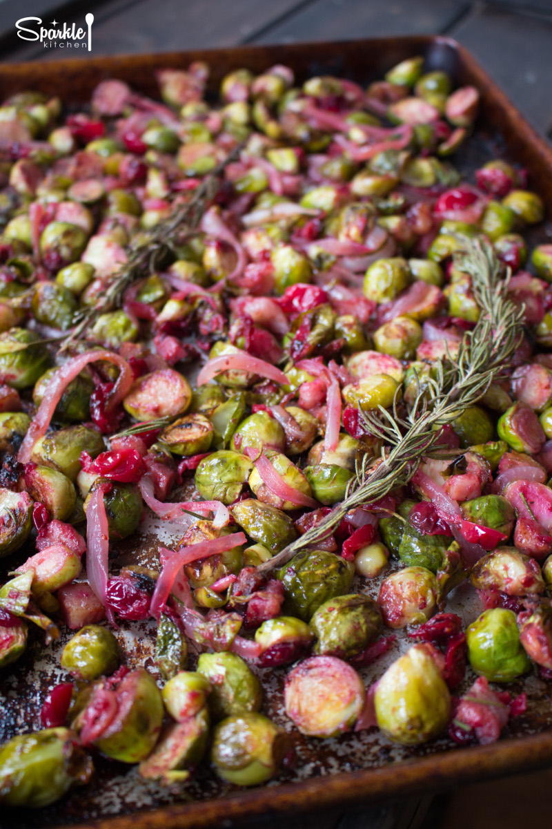 Roasted Brussels Sprouts with Cranberries & Pancetta ...