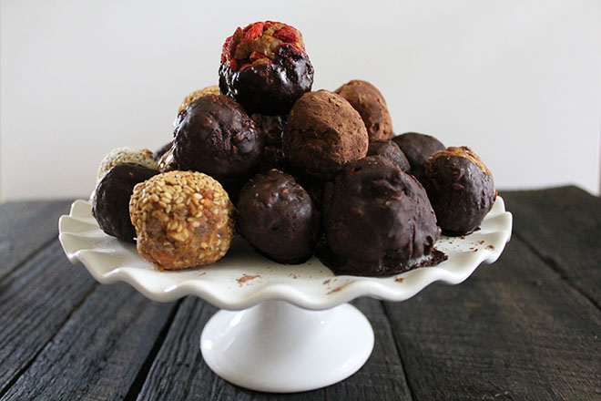CINNAMON SWEET POTATO TRUFFLES