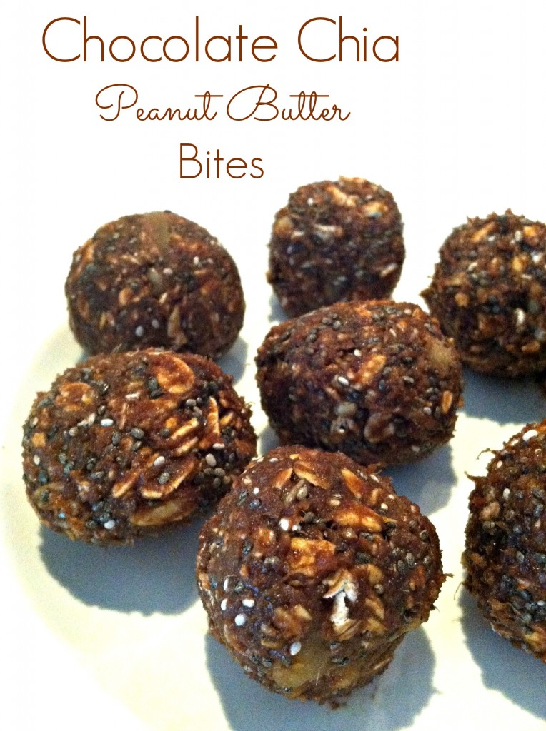 CHOCOLATE CHIA PEANUT BUTTER BITES
