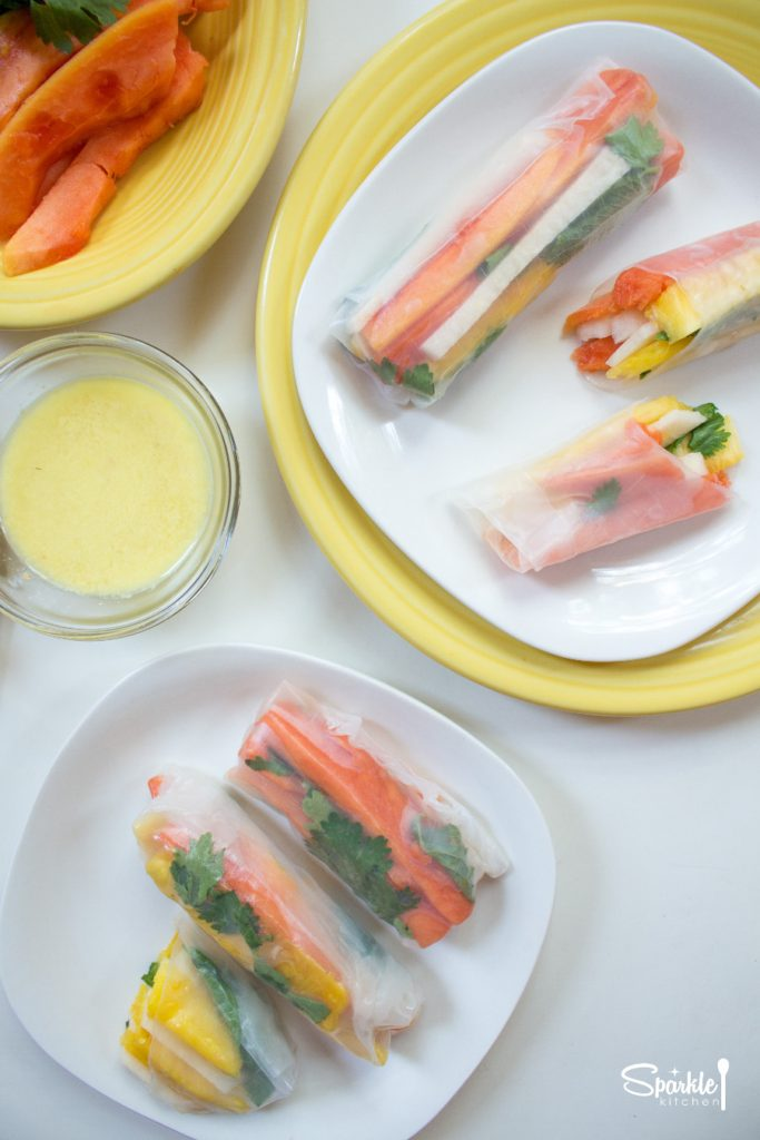 Summer Fruit Spring Rolls