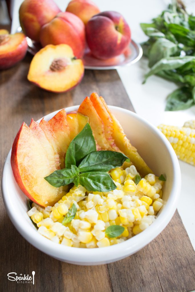 Sweet Corn and Peach Salad