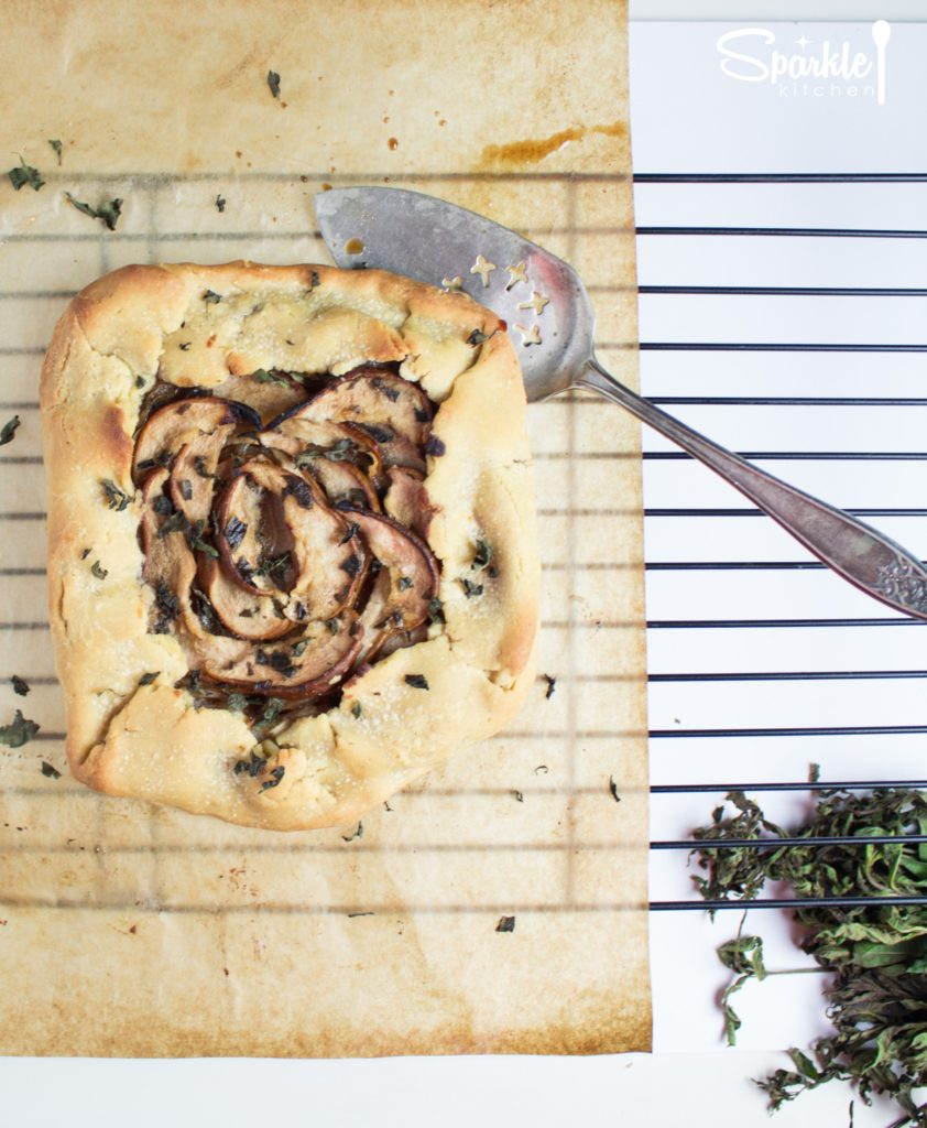Savory Pear & Onion Galette with Lemon Verbena