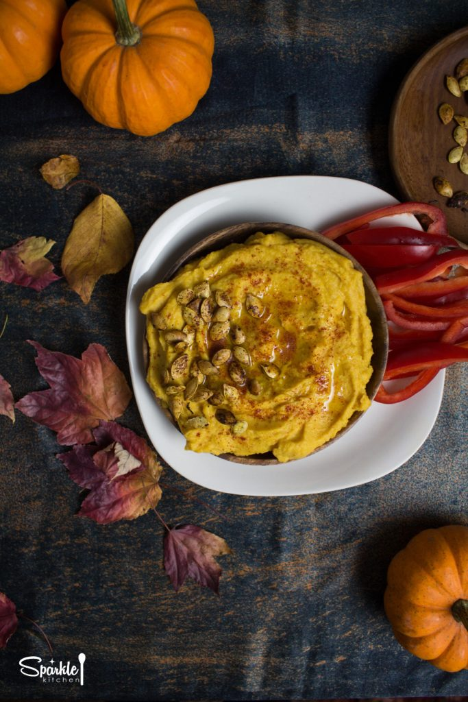 Roasted Garlic Pumpkin Hummus
